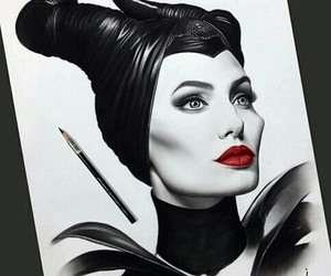 art, maleficent, and Angelina Jolie image