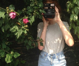girl, alternative, and flowers image