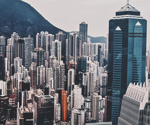city and hong kong image