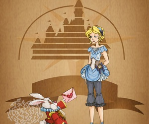 disney, alice, and steampunk image