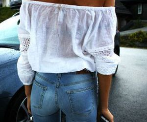jeans and white image