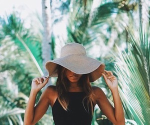 girl, beautiful, and hat image