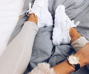 white, shoes, and style image