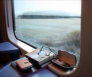 train, travel, and book image