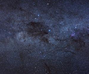 dark, stars, and sky image