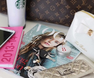 vogue, fashion, and starbucks image