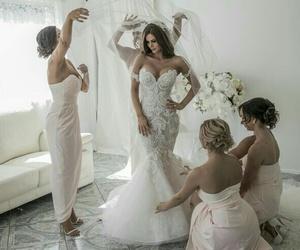 wedding, beautiful, and bride image