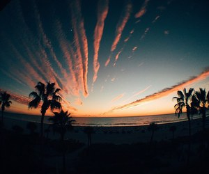 beautiful, sunset, and sky image