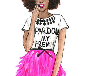 Afro, fashion, and pastel image