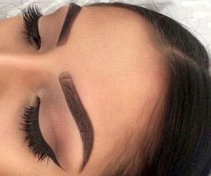 black, makeup, and brunette image