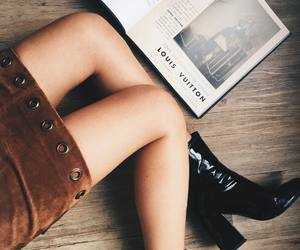 black, booties, and brown image