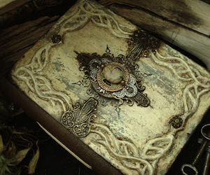 book, magic, and old image