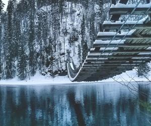 bridge, inverno, and wallpaper image