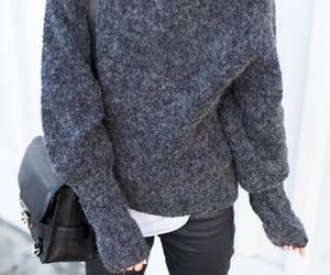 bag, grey, and black image