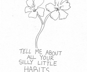 flowers, quote, and habits image