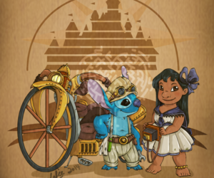disney, lilo, and steampunk image