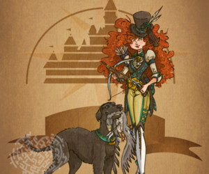disney, merida, and steampunk image