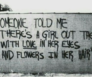 quote, flowers, and black and white image