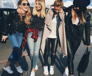 friends, fashion, and friendship image