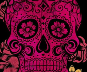 skull and flowers image