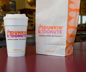 food, dunkin donuts, and drink image