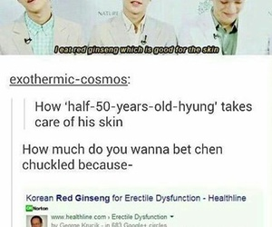 Chen, exo, and funny image