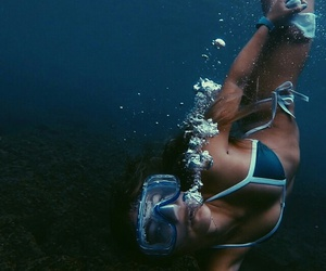 summer, girl, and ocean image