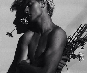 flowers, model, and lucky blue smith image