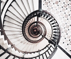 staircase, white, and marbel image
