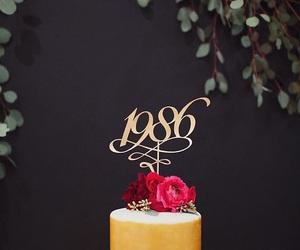 1986, birthday, and birthday cake image