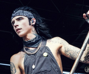 black veil brides, andy biersack, and tattoo image