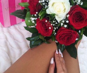 nails, flowers, and roses image