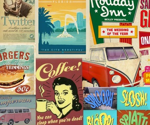 50's, background, and 60's image