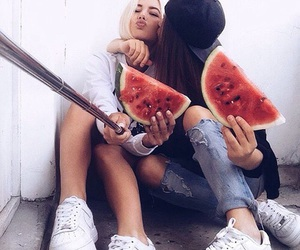 best friends and watermelon image
