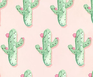 Cactus Green Pastel Pink Tumblr Wallpaper Lock Screen Home
