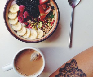 food, fruit, and coffee image