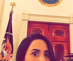 demi lovato, white house, and snapchat image