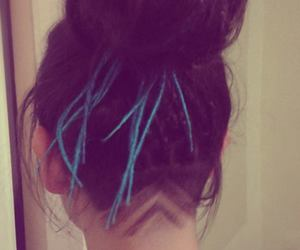 blue, colour, and dreads image