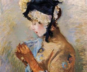 art, portrait, and female portrait image