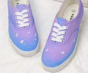 beauty, vans, and violet image