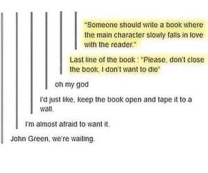 book, john green, and tumblr image
