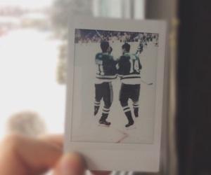 hockey, nhl, and polaroids image