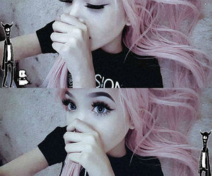 emo, scene, and pink hair image