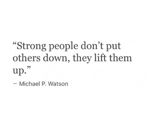 quote and strong people image