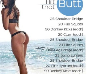 butt, exercise, and training image