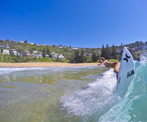 australia, summer, and surfing image