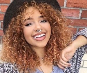 hair, beauty, and curly hair image