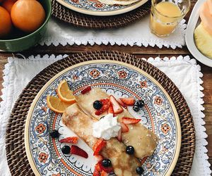 food, pancakes, and beautiful image