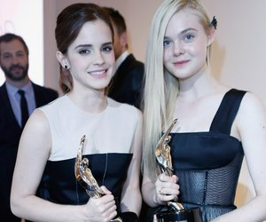 Elle Fanning, emma watson, and fashion image