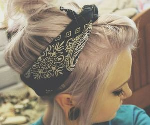 hair and bandana image